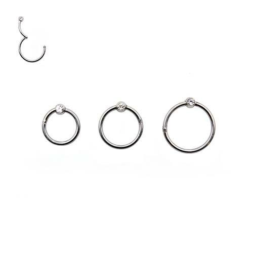 Piercing anello Segment con brollntino e cardine