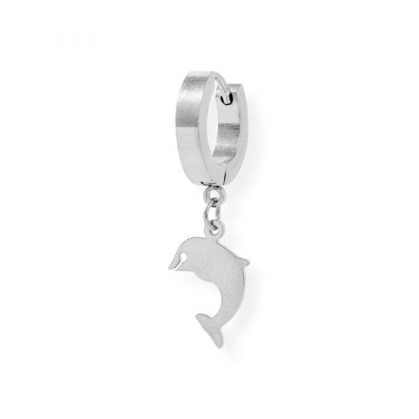 Orecchini pendente delfino in acciaio 316L